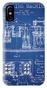 1877 Bottling Machine Patent - Blueprint IPhone Case
