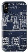 1877 Bottling Machine Patent - Navy Blue IPhone Case