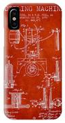 1890 Bottling Machine Patent - Red IPhone Case