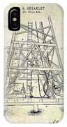 1893 Oil Well Rig Patent IPhone X Case