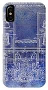 1897 Beer Brewering Patent Blue IPhone Case
