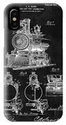 1898 Locomotive Headlight Patent IPhone Case