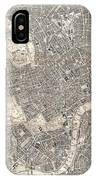 1899 Bacon Pocket Plan Or Map Of London  IPhone Case
