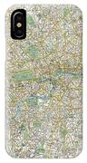 1900 Bacon Pocket Map Of London England  IPhone Case