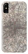 1900 Gall And Inglis' Map Of London And Environs IPhone Case