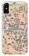 1900 Garnier Pocket Map Or Plan Of Paris France Eiffel Tower  IPhone Case