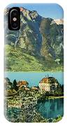 1900s Switzerland Swiss Alps Spiez Mit Ralligstoecke IPhone Case