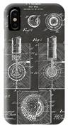 1902 Golf Ball Patent Artwork - Gray IPhone Case