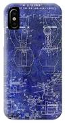 1902 Watchmakers Lathes Patent Blue IPhone Case