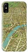 1908 London Vintage Map Poster IPhone Case