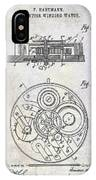 1908 Pocket Watch Patent  IPhone Case