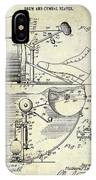 1914 Drum And Cymbal Patent IPhone Case