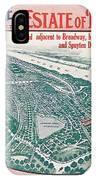 1915 Bronx Lots Sale Flyer IPhone Case
