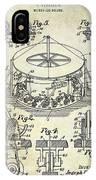 1916 Merry Go Round Patent IPhone Case