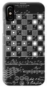 1923 Checkers And Chess Board IPhone Case