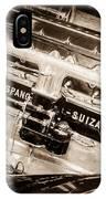 1924 Hispano-suiza H6b Dual  Cowl Sport Phaeton Engine Emblem -0258s IPhone Case
