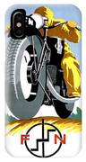 1925 Fn Motorcycles Advertising Poster IPhone Case