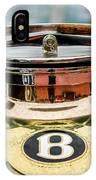 1929 Bentley 4.5-litre Open Tourer Hood Ornament IPhone Case