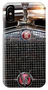 1930 Cadillac Roadster Hood Ornament 3 IPhone Case