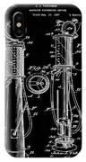 1930 Gas Pump Patent In Black IPhone Case