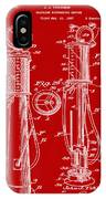 1930 Gas Pump Patent In Red IPhone Case