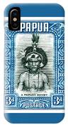 1932 Papua New Guinea Native Dandy Postage Stamp IPhone Case
