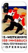 1933 Austrian Ski Race Poster IPhone Case