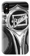 1933 Buick Victorian Emblem B And W IPhone Case