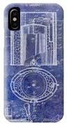 1935 Beer Equipment Patent Blue IPhone Case