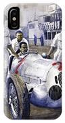 1937 Italian Gp Mercedes Benz W125 Rudolf Caracciola IPhone Case
