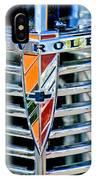 1939 Chevrolet Coupe Grille Emblem IPhone Case