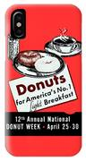 1940 Donut Poster IPhone Case