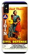 1942 Civil Defense Poster By Charles Coiner IPhone Case