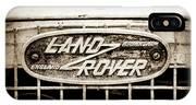 1952 Land Rover 80 Grille  Emblem -0988s2 IPhone X Case