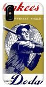 1953 Yankees Dodgers World Series Program IPhone Case