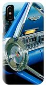 1956 Ford Thunderbird Steering Wheel And Emblem IPhone Case