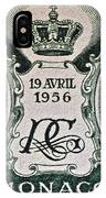 1956 Princess Grace Of Monaco Stamp II IPhone Case