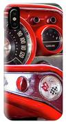 1957 Chevy Bel Air Stering Wheel  IPhone Case