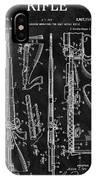 1957 Rifle Patent Illustration IPhone Case