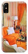 1960 70 Stylish Living Room Advertisement Orange And Stripes Groovy Baby IPhone Case