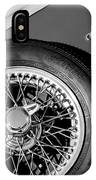 1964 Morgan 44 Spare Tire Black And White IPhone Case