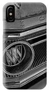 1965 Buick Hood Ornament B And W IPhone Case