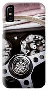 1966 Jaguar Xk-e Steering Wheel Emblem -2489ac IPhone Case