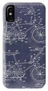 1968 Schwinn Stingray Patent In Blueprint IPhone Case