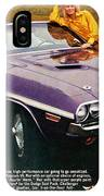 1970 Dodge Challenger Rt Convertible IPhone Case