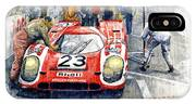 1970 Le Mans 24 Porsche917k Attwood Herrmann Winner  IPhone X Case