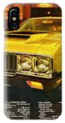 1970 Oldsmobile Cutlass 442 W-30 IPhone Case