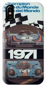 1971 Porsche World Champion Poster IPhone Case
