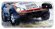 1986 Porsche 959/50 #185 2nd Dakar Rally Raid Ickx, Brasseur IPhone X Case