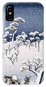 19th C. Snow On Asuka Hill IPhone Case
